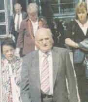 Kevin Ludlow, brother of the late Seamus Ludlow, leaves Dundalk Courthouse accompanied by his wife and daughter.